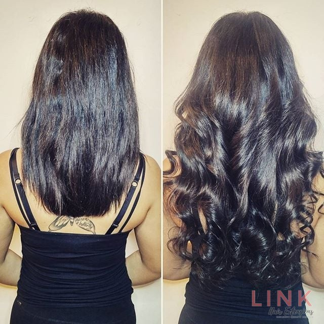 Micro rings hair extensions in london