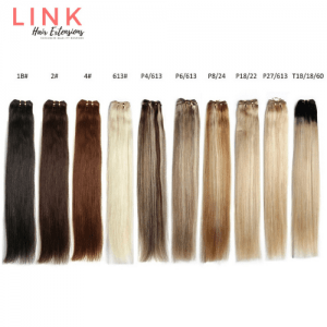 Beauty Link Platinum Straight Hair Weft Weave Bundles 14″ Inch Remy Hair Extensions