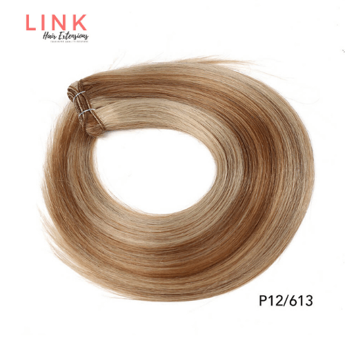 Mixed Blonde Human Hair Extensions Weft