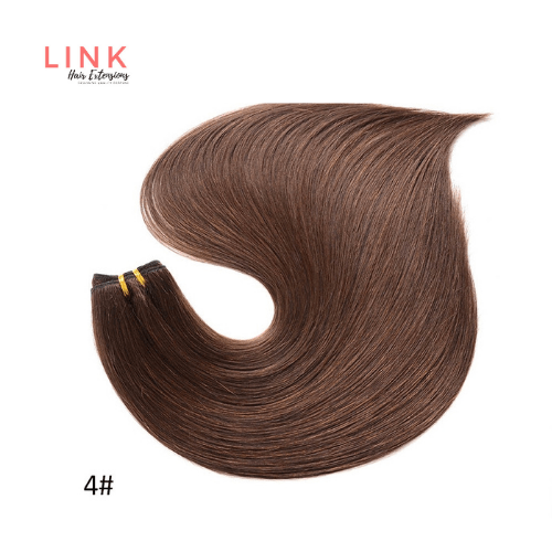 Dark brown human hair extensions