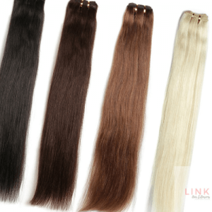 Beauty Link Platinum Straight Hair Weft Weave Bundles 18″ Inch Remy Hair Extensions