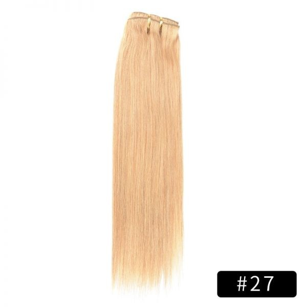 Link Remy Straight Clip In Human Hair Extensions Full Head Set 10Pcs 16 inch 160G 200G 240G