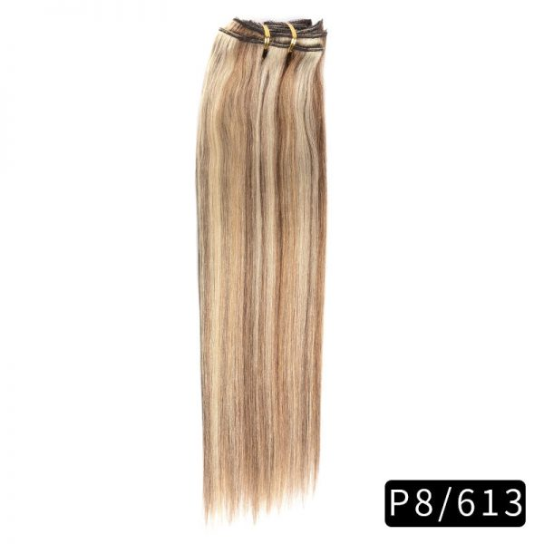 Link Remy Straight Clip In Human Hair Extensions Full Head Set 10Pcs 18 inch 160G 200G 240G