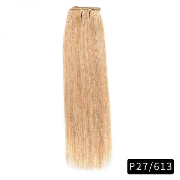 Link Remy Straight Clip In Human Hair Extensions Full Head Set 10Pcs 20 inch 160G 200G 240G