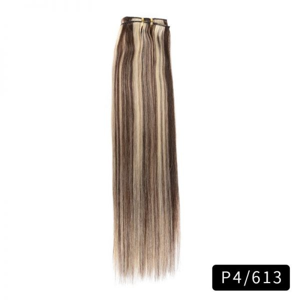 Link Remy Straight Clip In Human Hair Extensions Full Head Set 10Pcs 24 inch 160G 200G 240G