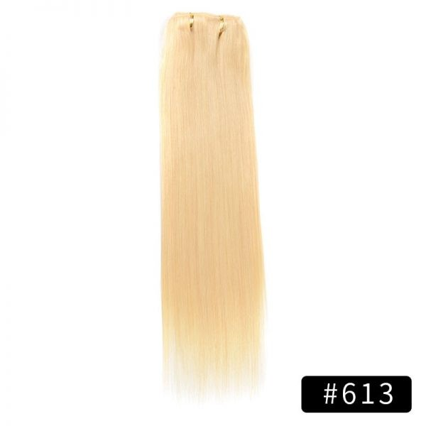 Link Remy Straight Clip In Human Hair Extensions Full Head Set 10Pcs 14 inch 160G 200G 240G